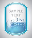 Etiqueta azul clara abstracta del laboratorio Imágenes de archivo libres de regalías