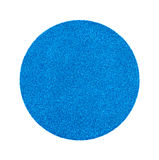 Etiqueta azul da venda de garagem fotografia de stock