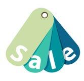 Etiqueta azul de la venta del vector aislada Stock de ilustración