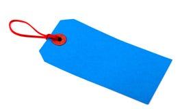 Etiqueta azul del equipaje Imagen de archivo libre de regalías