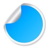 Etiqueta azul do vetor ilustração royalty free