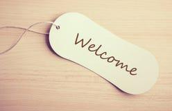 Etiqueta bem-vinda Imagem de Stock