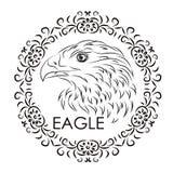 Etiqueta bonita com a imagem de uma águia Pode ser usado para o anúncio Foto de Stock