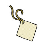 etiqueta cômica do presente dos desenhos animados Fotos de Stock Royalty Free