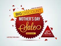 Etiqueta, cartel, bandera o aviador de la venta para el día de madre Fotos de archivo libres de regalías