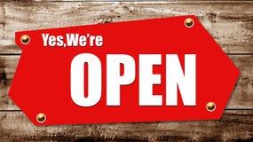 Etiqueta cerrada y abierta Imagen de archivo libre de regalías