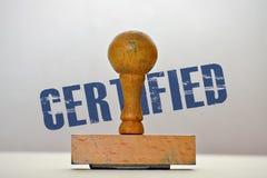 Etiqueta certificada Fotografía de archivo libre de regalías