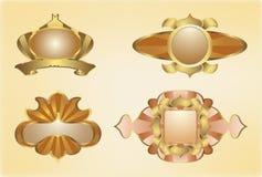 Etiqueta clássica na cor do ouro Fotos de Stock Royalty Free