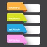 Etiqueta colorida abstracta, trabajo del vector Imagen de archivo libre de regalías