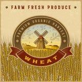 Etiqueta colorida de la cosecha del trigo del vintage libre illustration