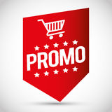 Etiqueta colorida de la etiqueta del promo de las compras fotos de archivo libres de regalías