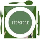 Etiqueta colorida del menú Imágenes de archivo libres de regalías