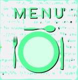 Etiqueta colorida del menú Foto de archivo