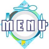 Etiqueta colorida do menu isolada Imagens de Stock