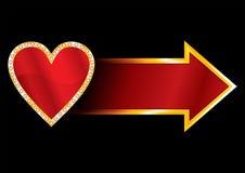 Etiqueta com coração Fotos de Stock