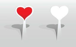 Etiqueta com corações Fotos de Stock