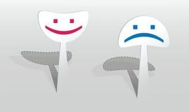 Etiqueta com dois sorrisos Foto de Stock
