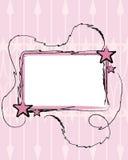 Etiqueta com estrelas cor-de-rosa Fotografia de Stock