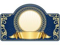 Etiqueta com frame do círculo ilustração stock