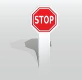 Etiqueta com sinal da parada Imagem de Stock Royalty Free