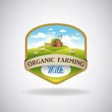 Etiqueta con la imagen de una granja ilustración del vector
