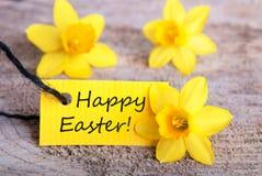 Etiqueta con Pascua feliz Foto de archivo