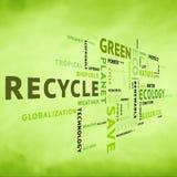Etiqueta conceptual moderna del verde del eco Imágenes de archivo libres de regalías