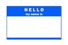 Etiqueta conocida en blanco Imagen de archivo libre de regalías