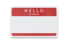 Etiqueta conocida en blanco con el espacio de la copia Imagenes de archivo