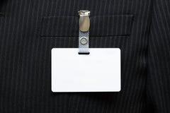 Etiqueta conocida en blanco en juego Fotos de archivo libres de regalías