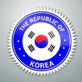Etiqueta coreana de la bandera ilustración del vector