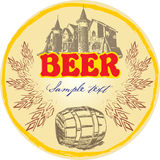 Etiqueta creativa da cerveja Imagens de Stock
