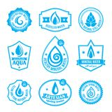 Etiqueta da água ilustração stock