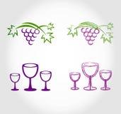 Etiqueta da carta de vinhos ilustração stock