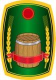 Etiqueta da cerveja Foto de Stock Royalty Free