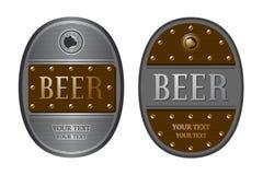 Etiqueta da cerveja de dois oval Imagens de Stock