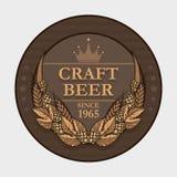 Etiqueta da cerveja do ofício Imagens de Stock Royalty Free