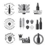 Etiqueta da cerveja do ofício do estilo do vintage Fotografia de Stock