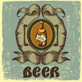 Etiqueta da cerveja para a garrafa de cerveja do restaurante da cervejaria Fotografia de Stock