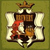 Etiqueta da cerveja para o restaurante da cervejaria Foto de Stock Royalty Free