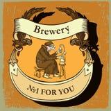 Etiqueta da cerveja para o restaurante da cervejaria Fotos de Stock Royalty Free