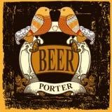 Etiqueta da cerveja para o restaurante da cervejaria com etiqueta da cerveja Fotografia de Stock Royalty Free
