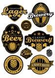 Etiqueta da cervejaria do vintage Foto de Stock Royalty Free