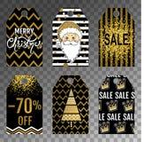 Etiqueta da coleção da venda do Natal ilustração stock