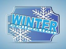 Etiqueta da coleção do inverno Fotos de Stock Royalty Free