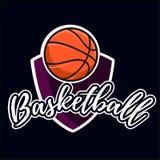 Etiqueta da cor do basquetebol ilustração stock
