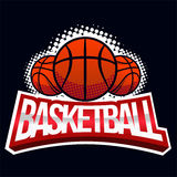 Etiqueta da cor do basquetebol ilustração royalty free
