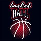 Etiqueta da cor do basquetebol ilustração do vetor