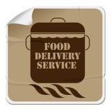 Etiqueta da entrega do alimento Foto de Stock