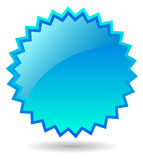 Etiqueta da estrela azul Foto de Stock Royalty Free